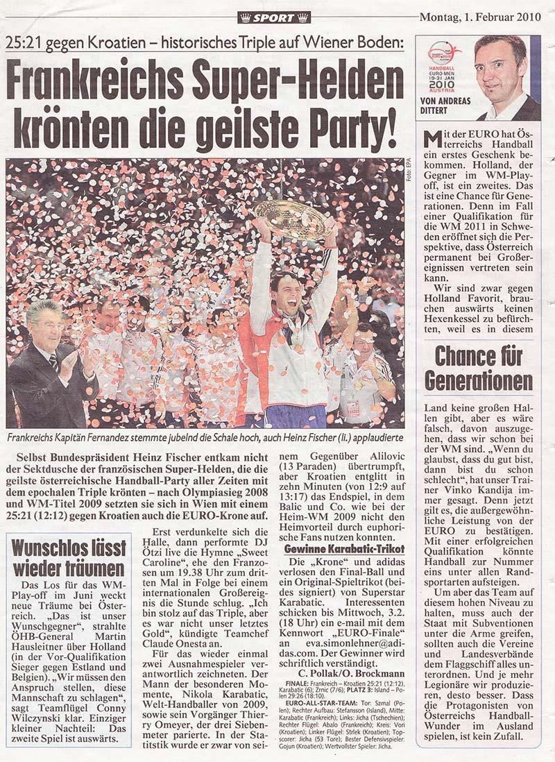 Kronen-Zeitung-Handball-EM-Februar-2010